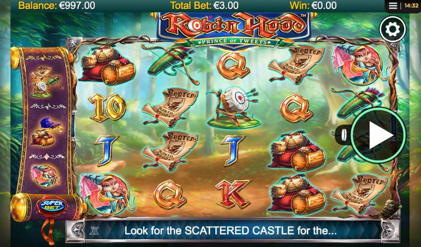Robin Hood - The Prince of Tweets Spilleautomat fra NextGen Gaming